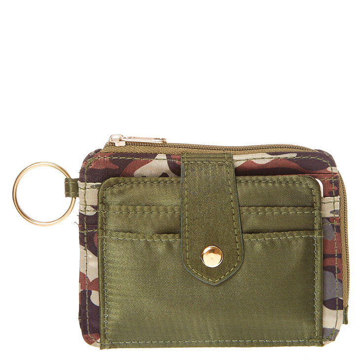 Camo Print Key Ring Card Holder,