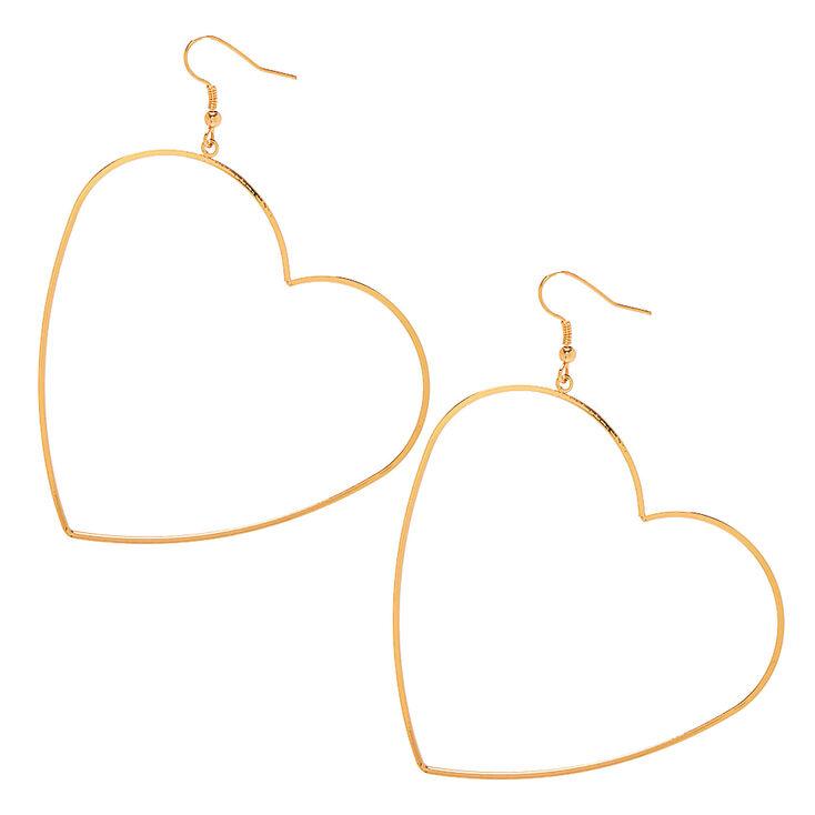 Gold 60MM Heart Hoop Earrings,