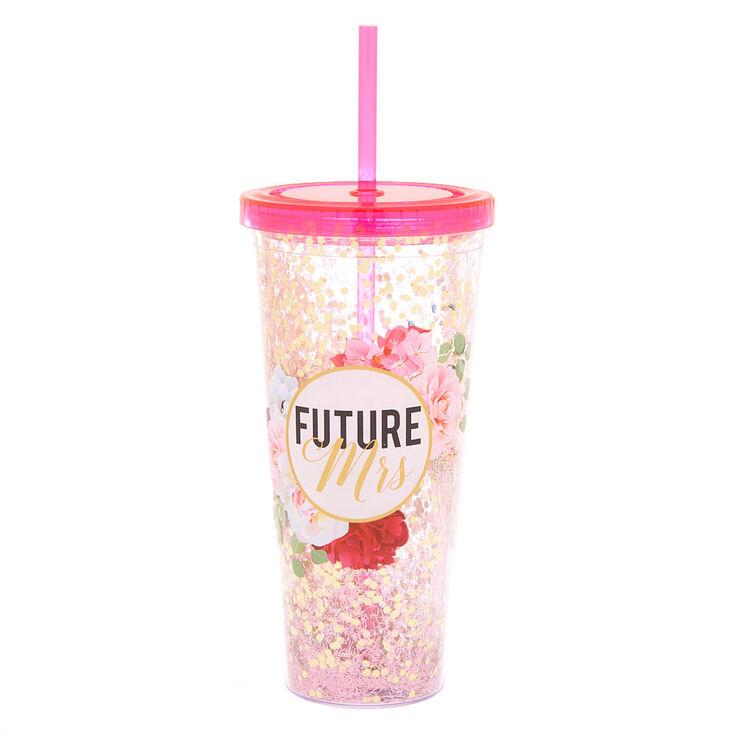 Future Mrs. Floral Tumbler - Pink,