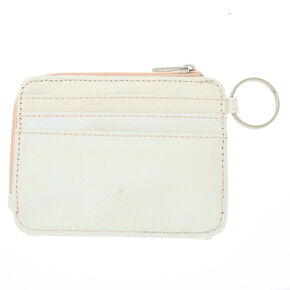 Iridescent Card Case - White,