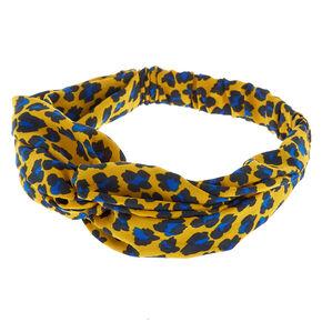 Bold Leopard Headwrap - Mustard Yellow,