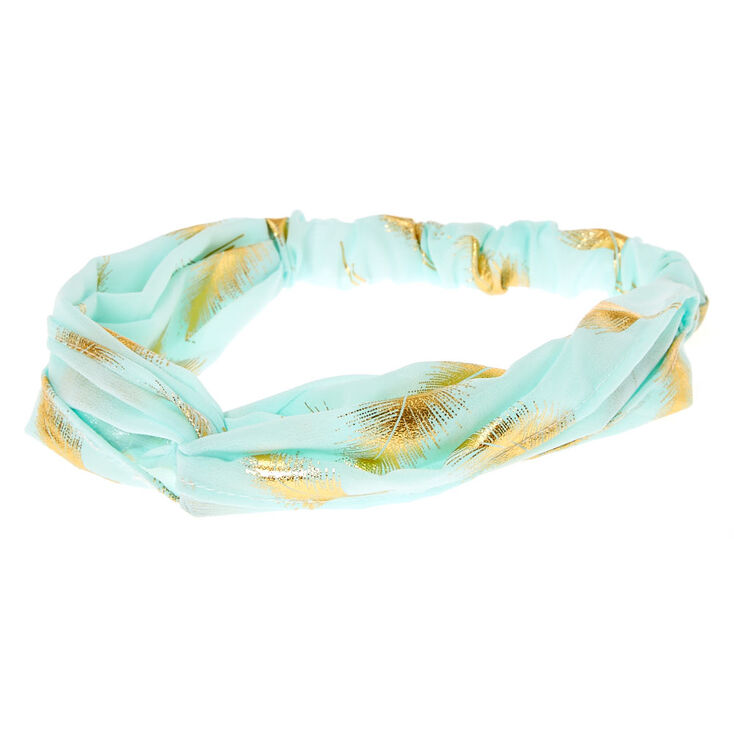 Gold Leaf Mint Headwrap,