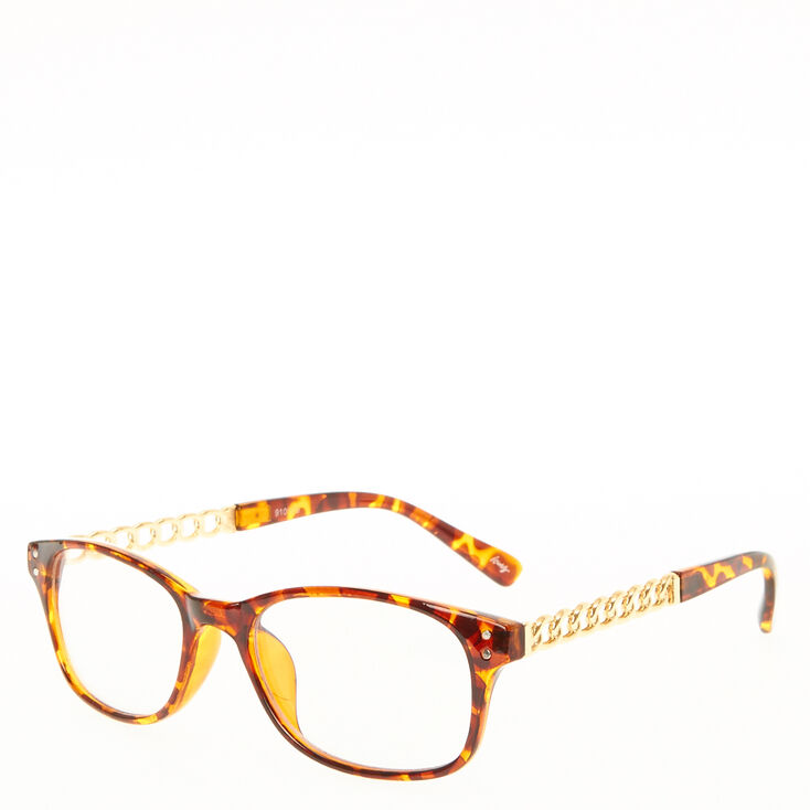 Tortoise Shell Frames with Gold Chain Arms,
