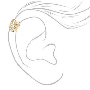 Filigree Gold Toned Heart Ear Cuff,