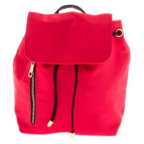 Drawstring Midi Backpack - Pink,