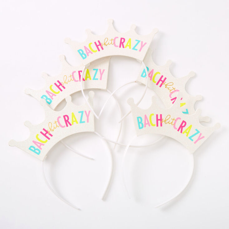 Bach Shit Crazy Crown Headbands - White,