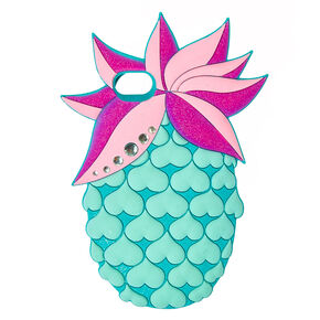 Pastel Pineapple Bling Phone Case - Fits iPhone 6/7/8,