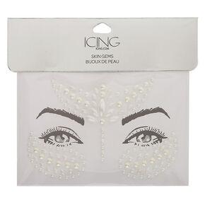 Faux Pearl Skin Gems - White,