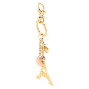 Eiffel Tower Keychain - Gold,