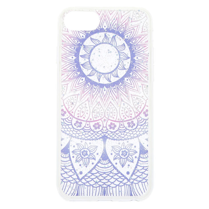 Pastel Glitter Mandala Phone Case - Fits iPhone 6/7/8 Plus,