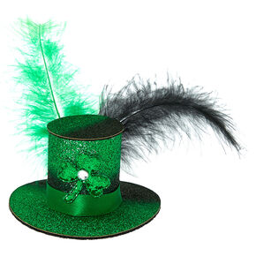 Mini Irish Hat Hair Clip - Green,