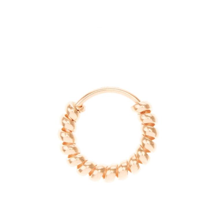 Rose Gold Helix Spring Hoop Earring,