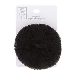 Large Dark Brunette Hair Doughnut,
