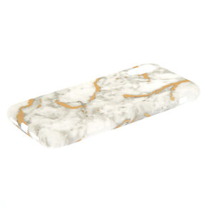 White + Gold Marble Phone Case,