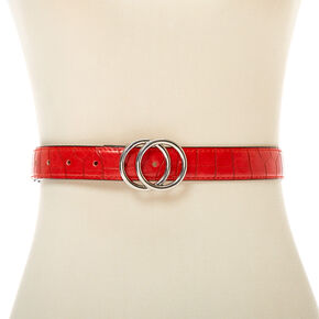 Crocodile Belt - Red,