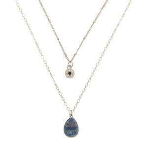 Lapis Lazuli Creativity Multi Strand Pendant Necklace,