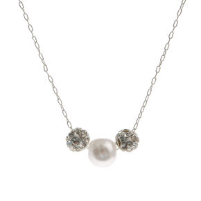 Mini Pearl  & Crystal Necklace,