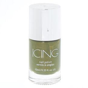Shimmer Nail Polish - Khaki Green,