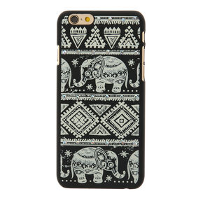 Aztec Elephant Glow in The Dark Phone Case - Fits iPhone 6/7/8,