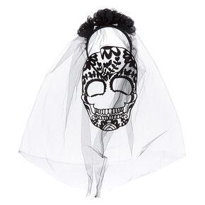 Skeleton Veil Headband - Black,