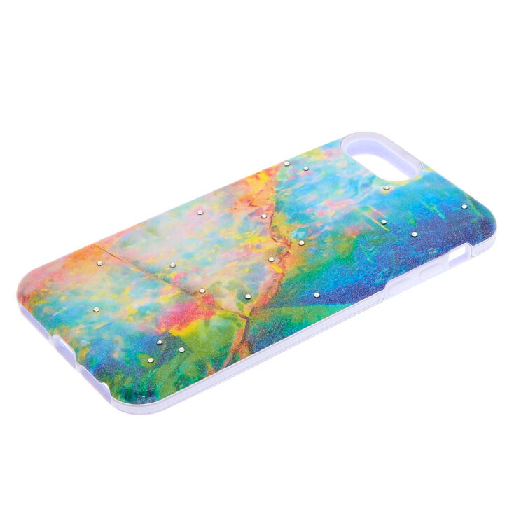 Dark Opal Stone Protective Phone Case - Fits iPhone 6/7/8 Plus,