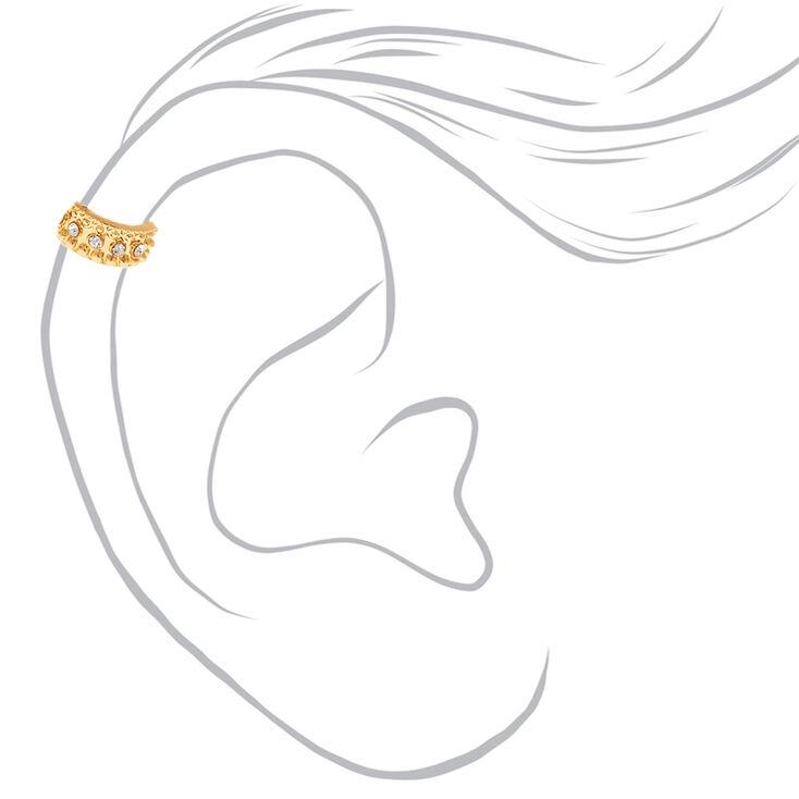 3 Pack Gold-Tone Ear Cuffs,
