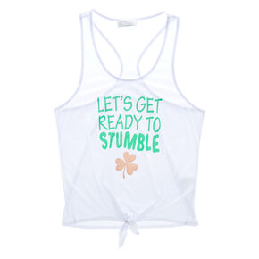Let's Get Ready to Stumble Tank - White,