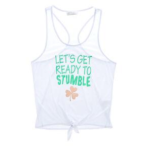 Let's Get Ready to Stumble Tank - White,