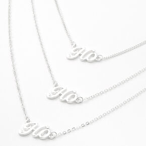 Silver Ho Ho Ho Multi Strand Necklace,