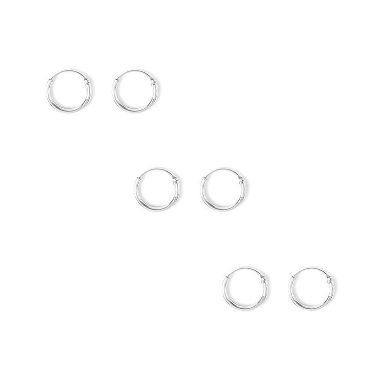 10MM Hoop Earrings Set of 3,
