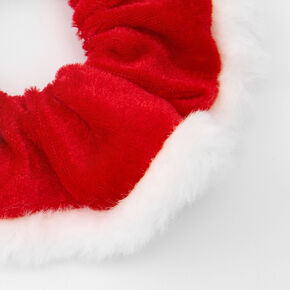Small Santa & Reindeer Hair Scrunchies - 2 Pack,