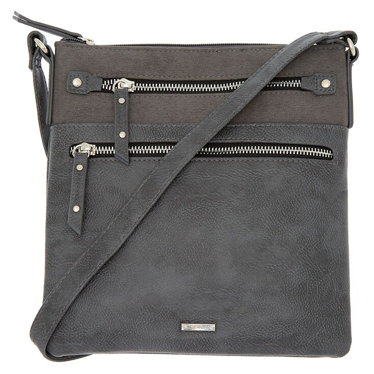 Midi Passport Crossbody Bag - Gray,