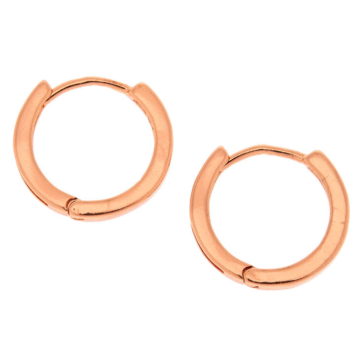 18kt Rose Gold Plated 14MM Hoop Earrings,