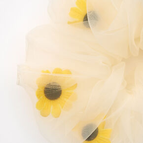 Giant Sheer Sunflower Hair Scrunchie,