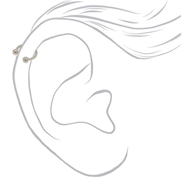 Silver 16G Assorted Cartilage Earrings - 3 Pack,