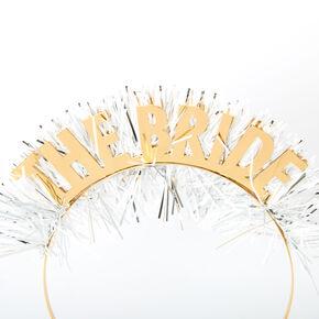 Tinsel Bride Headband - Gold,
