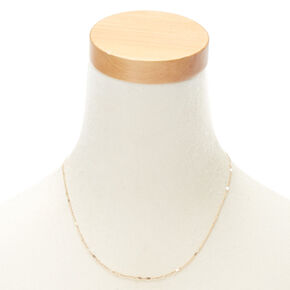 Gold Link Chain Necklace,
