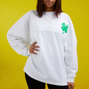 St. Patrick's Day 'Day Drinkin' Long Sleeve - White,