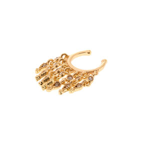 Gold Drapes Faux Cartilage Earring,