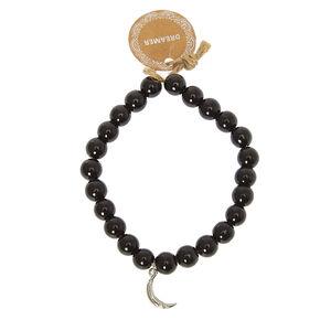 Beaded Dreamer Stretch Bracelet - Black,