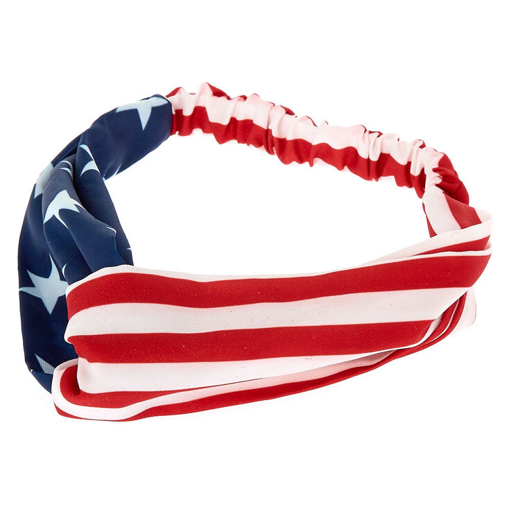 American Flag Twisted Headwrap,
