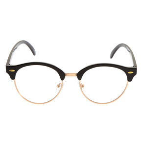 Rose Gold and Black Retro Glasses,
