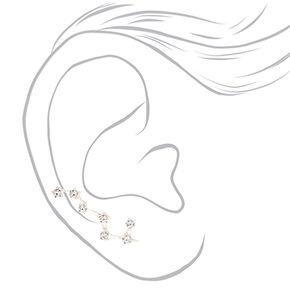 "Silver 1"" Constellation Ear Crawler Earrings,"