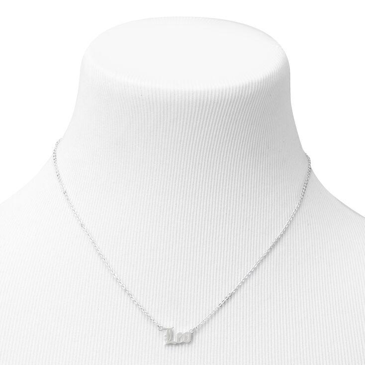 Silver Gothic Zodiac Pendant Necklace - Leo,