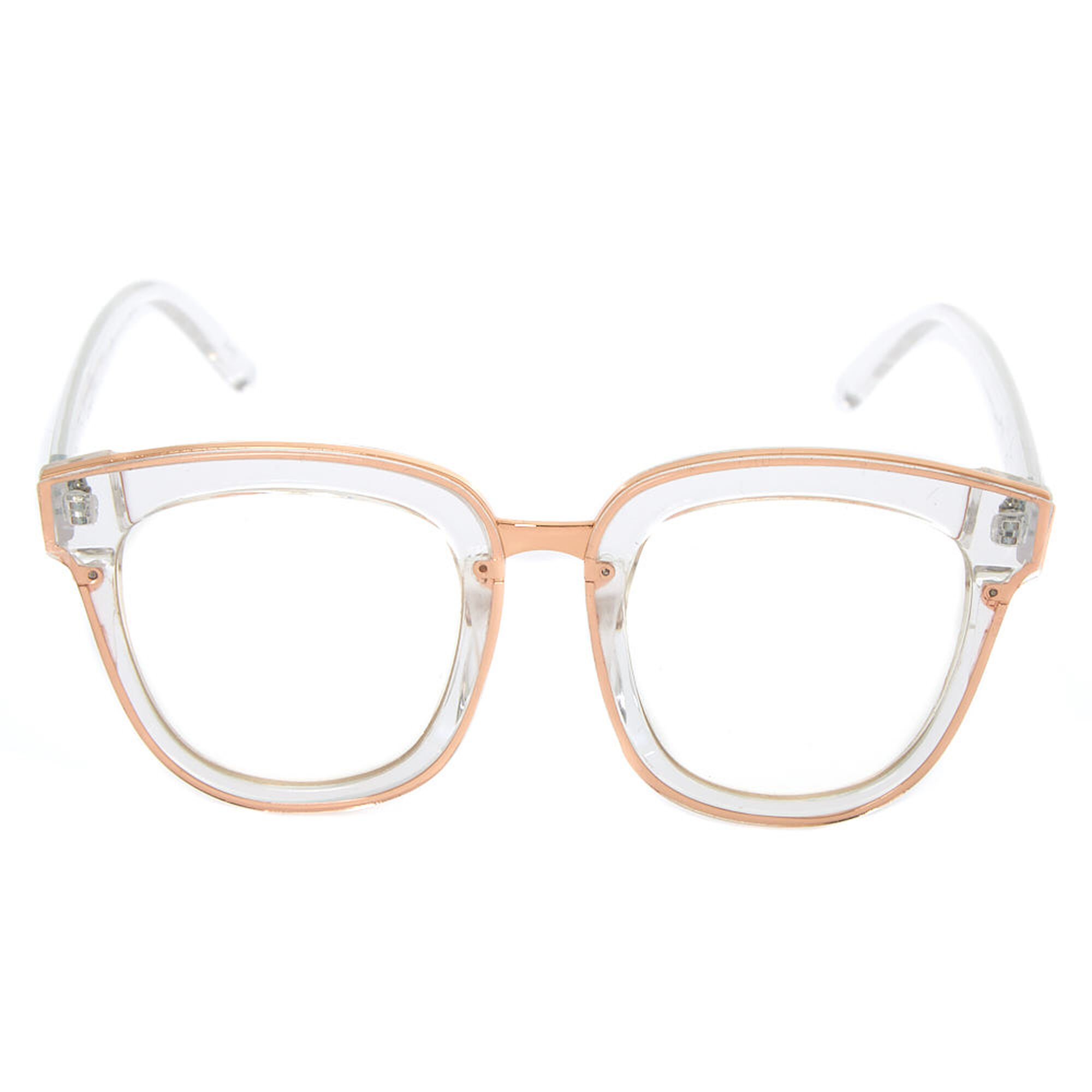 2c1a04647b ... Round Oversized Frames - Clear