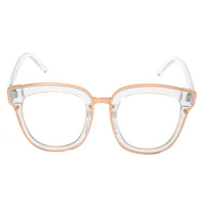 Round Oversized Frames - Clear,