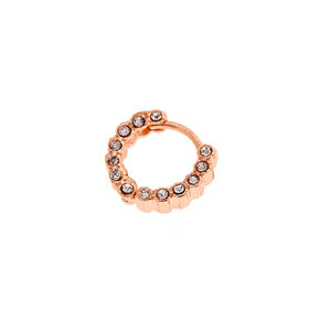 Rose Gold Eternity Crystal Helix Earring,