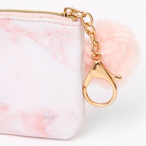 Marble Zipper Coin Purse - Pink,