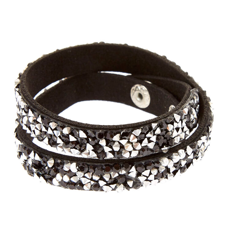 Black Gem Wrap Bracelet,