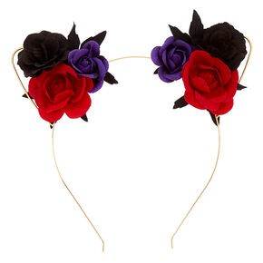 Floral Cat Ears Headband,